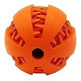 ubest Hundeball Hundespielball aus Naturkautschuk Hundespielzeug Zahnpflege Gummispielzeug, Typ 3, L