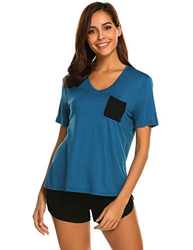 lafanzug Jersey Nachtwäsche Oberteile blau ()