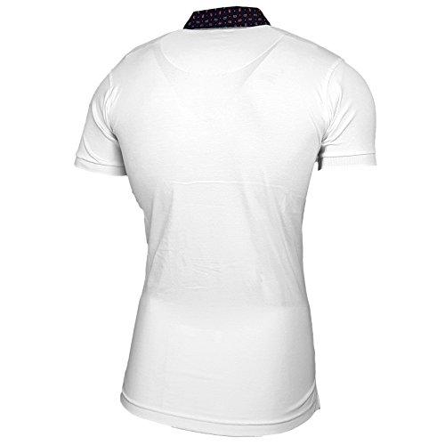 Rusty Neal Herren Poloshirt Kurzarm Stehkragen Slim Fit Design Fashion  15128 Weiß ...