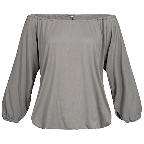 lilikoi Mujer Yoga Lifestyle Sport 3/4 tel Angel Camiseta bambú, One size, mujer, color gris, tamaño talla única