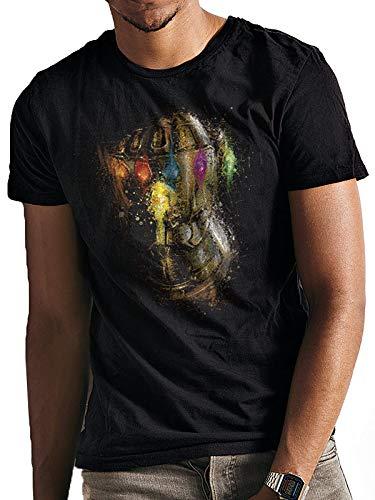 T-Shirt (Unisex-L) Gauntlet Splatter (Black)
