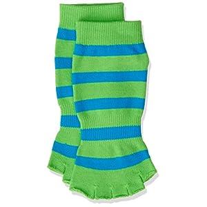 PhysioWorld Socken Yoga-/Pilates/Übung Sport Fingerlose–Rutschfeste ohne Zehen–Grip Socks aus Baumwolle