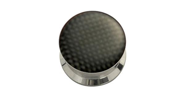 4-20mm Flesh Tunnel Plug Stahl Carbon Karbon Z141