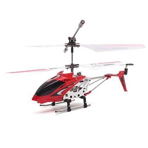 Syma S107G - 3 Canales RC Mini Helicóptero de Control Remoto Drone, Rojo