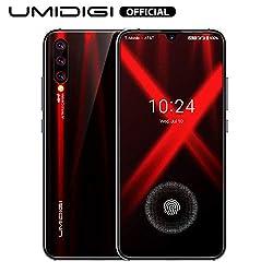 UMIDIGI X Smartphone ohne vertrag günstig mit Fingerabdrucksensor im Display, NFC, 4150mAh Akku, 128GB Speicher, 6.35'' AMOLED Full Screen, 48MP Ultra Wide AI Triple Kamera - Flame Black