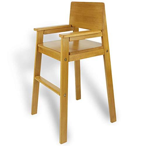 MADYES Kinderstuhl Hochstuhl Massivholz Buche Fareb NUSS. Modernes Design. Treppenhochstuhl Buche für Esstisch, Kinderhochstuhl für Kinder, stabil & pflegeleicht viele Farben möglich