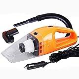 Bіtер High-Power Auto Staubsauger trocken und nass verwenden 120W Portable mit Einer Vielzahl von Zubehör (Farbe : Orange)