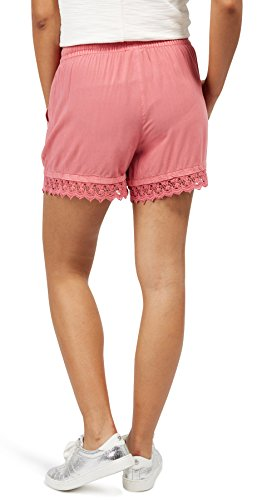 Tom Tailor Denim für Frauen pants / trousers Shorts mit Spitzen-Besatz slate rose