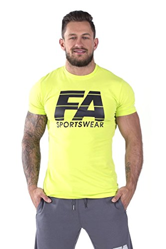 FA Sportswear T-shirt 01 Neon Yellow Basic - S - TRAININGSSHIRT - BODYBUILDING (T-shirt Fa S/s)