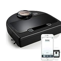 Idea Regalo - Neato Robotics Botvac DC02 Connected - Robot aspirapolvere automatico cattura peli animali con mappatura laser e Wi-Fi - Alexa e Google Home Friendly