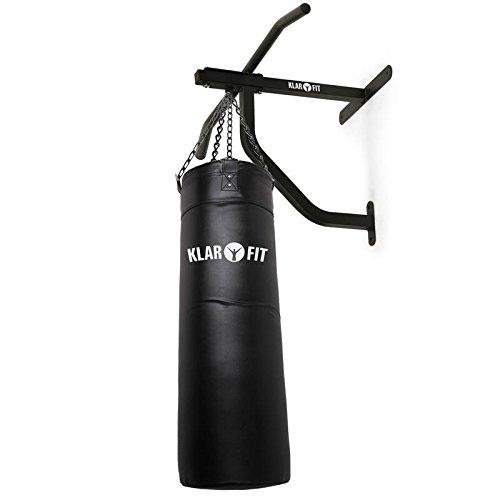 KLAR FIT First Strike Saco de Boxeo y Barra de dominadas - Entrenamiento Multifuncional,...