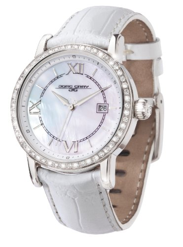 Jorg Gray Ladies Analogue Watch JG2400-11 with Mother Of Pearl Dial and Leather Strap