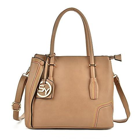 Sally Young Trendy filetage femmes sac sac à main mesdames épaule sacs - camel - camel,