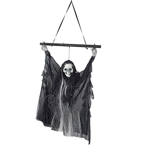 Festival-Maske Halloween Toy Haunted House Veranstaltungsort Arrangement Horror Auto Sensing Kleiner Hängender Geist Glowing Ghost Aufruf Pole Hängen Bar KTV Spukhaus Dekoration Requisiten Kostüm Mask