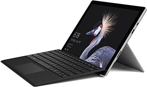 Microsoft Surface Pro (12,3 Zoll) Notebook (Intel Core i5, 4 GB RAM, 128 GB SSD, Windows 10 Pro) silber, ohne Stift + Surface Pro Type Cover schwarz
