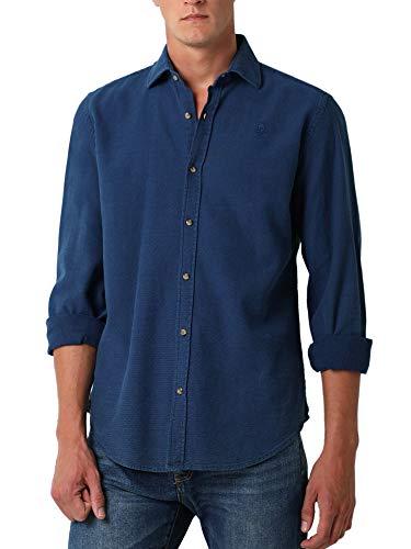 Scalpers Camisa Denim Estructura - Blue Denim / 40
