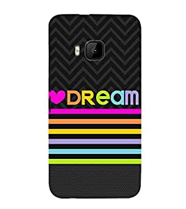 PrintVisa Tangerine Dream Quote 3D Hard Polycarbonate Designer Back Case Cover for HTC One M9 :: HTC One M9S :: HTC M9 :: HTC One Hima