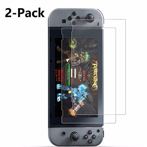 2x Cristal Nintendo Switch Protector de Pantalla, KATUMO® Vidrio Templado para Nintendo Switch 2017 Cristal de Protector 41RgolajD5L