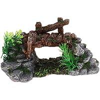 SM SunniMix Ornamento de Terrario Complimentos Pecera Adornos Decoración Ornamento Duradero - Estilo 2