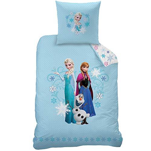 Disney Frozen Bettwäsche-Set, Flanell, Hellblau, 135 x 200 cm, 2-Einheiten