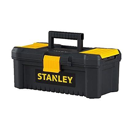 """Stanley herramientas y consumidor stst13331esencial de almacenamiento Caja de herramientas, 12,5"""", negro/amarillo"""