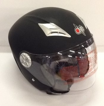 CASCO JET ONE SPY NEGRO MATE M