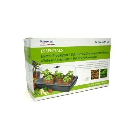 Stewart Essentials pour semis, Noir – 38 cm Essentials (Couvercle moulé sous vide, 8 W) Medium - 38 cm Noir