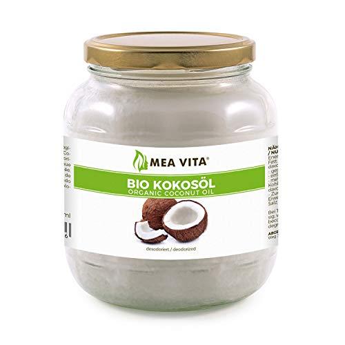 MeaVita - Aceite de coco orgánico, sabor neutro (desodorizado), 1 unidad (1 x 1000 ml)