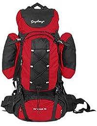 mochilas montaña bolsos al aire libre del alpinismo 70L mochila de viaje bolsa de hombres y mujeres Mochilas de marcha ( Color : Rojo , Tamaño : 70L )