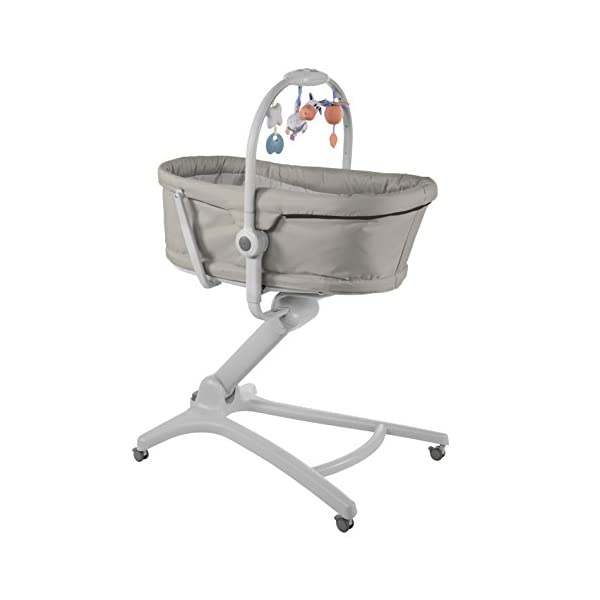 Chicco Baby Hug 4 in 1, Legend  It covers all your and your baby's needs: it is a comfy crib, a recliner from birth, a convenient highchair and finally your child's first chair from 6 months. Adjustable heights and backrest and 4 wheels Removable reducer to make the recliner suitable from birth 1
