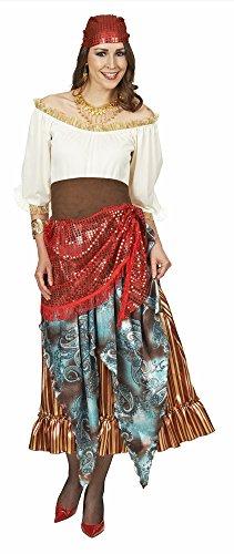 Wahrsagerin Zigeunerin Kostüm für Damen Gr. 40 42 - Hochwertig gearbeitetes Kostüm für Karneval oder (Wahrsagerin Kostüme)