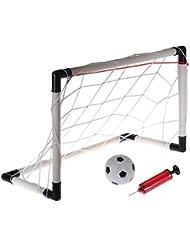 Moppi 61x40cm de mini portería de fútbol portátil Juego de redes niños adminículo