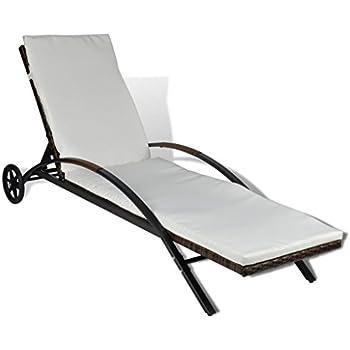 tidyard Rotin PE Intempéries Chaise en Résistant aux Longue f7gyYvb6