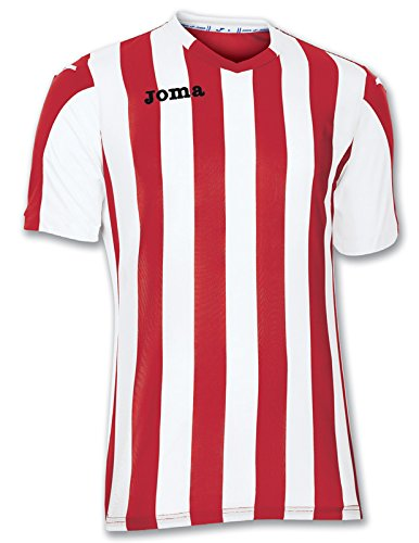 Joma Herren Trikot Kurzarm 100001.600, mehrfarbig-(Rojo-Blanco), M, 9995096644072 (T-shirts Französisch-gestreiften)