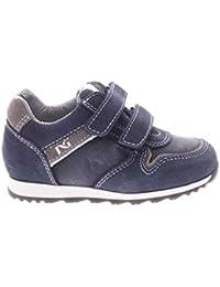 Sneakers blu scuro con chiusura velcro per bambini NeroGiardini Junior