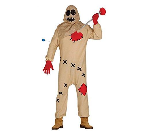 Voodoo Puppen Halloween Kostüm für Herren blutige Puppe Halloweenkostüm Herrenkostüm Voodookostüm Puppenkostüm Vogelscheuche Gr. M - L, Größe:M (Einfach Vogelscheuche Kostüm Herren)