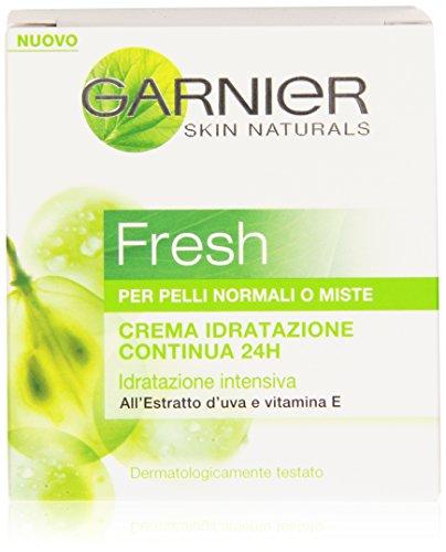 Garnier Fresh Crema Idratazione Continua 24H per Pelli Normali o Miste, 50 ml