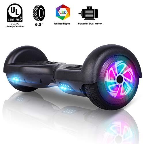 "Self Balance Elektro Scooter 6.5\"" Hoverboard für Kinder Erwachsene LED Lights E-Skateboard E-Scooter - 600W Motor (Schwarz)"