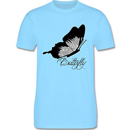 Statement Shirts - Butterfly Schmetterling - Herren Premium T-Shirt Hellblau