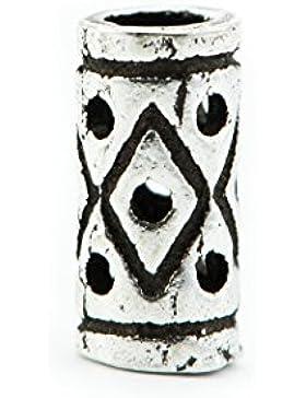 Wikinger Bartperle aus Silber, klein, ID 2 mm - Perle für Dreadlocks Dreads