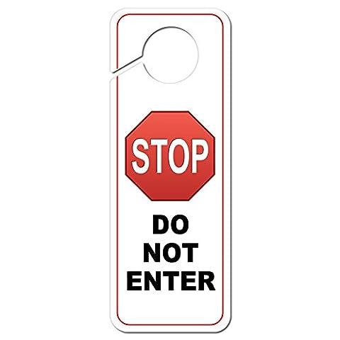 Panneaux Stop - Panneau Stop ne pas entrer en plastique
