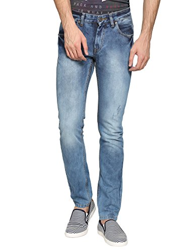 abof Men Sky Blue Slim Fit Jeans  available at amazon for Rs.507