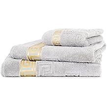 Luxus Medusa de toalla de baño toalla de plata de gran anillo de hilo de aspas