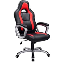 Brand New Designed Racing Sport Swivel Office chair in Black Red Color