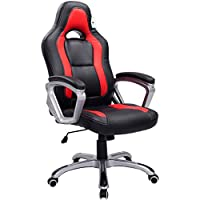 Cherry Tree Furniture Designed Racing Sport Swivel Chair in Black Red Colour