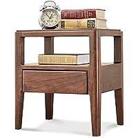 Bedside Table LVZAIXI Alle Massivholz Nachttisch Schwarz Nussbaum Lampe  Tisch Einfache Moderne Einzel Schublade Kleine Schrank