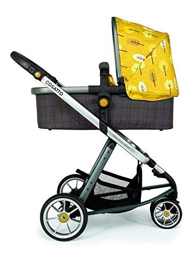 Cosatto Giggle 3 Travel System in Spot The Birdie with Car Seat Base Bag footmuff & Raincover Cosatto Easily transforms to be used with carrycot, pushchair seat and matching Cosatto group 0+ car seat (included). Compact, easy fold. Lightweight aluminium chassis. All-round suspension for a smooth ride. Quick-release removable premium wheels. 3