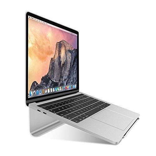 WEYO Stabil Laptop Ständer Halter, Notebook Stand aus Aluminium, Notebook Halterung mit Rutschfestem Silikon-Polster für MacBook,MacBook Pro/Air,Surface Pro,Ultrabook und Laptop von 11 bis 17 Zoll