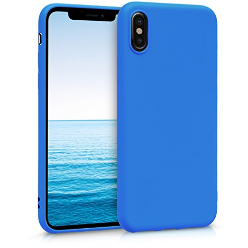 kwmobile Apple iPhone X Hülle - Handyhülle für Apple iPhone X - Handy Case in Neon Blau