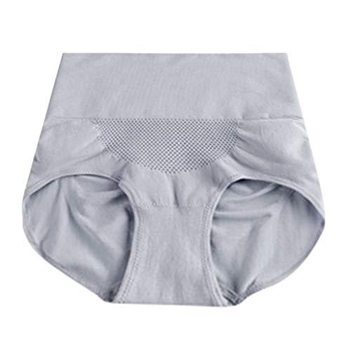 IPOTCH Damen Höschen Hohe Taille Hipster Frauen Unterwäsche Volle Slips Einfarbig Unterhose Bauchsteuer Höschen - Gary, Einheitsgröße - 3